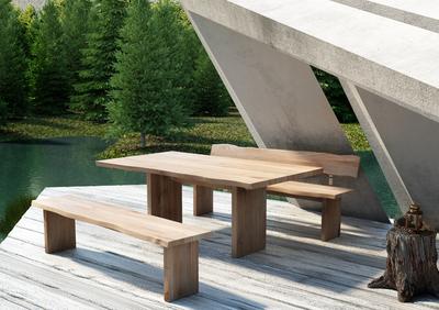 Mobel Tisch Aspen Aus Massivem Teak Holz Holz Im Garten