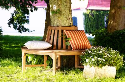 Mobel Baumbank Aus Teak Holz Holz Im Garten