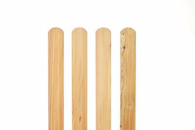 Zaunlatten Und Riegel Zaunlatte Rundbogen Sibirische Larche Holz