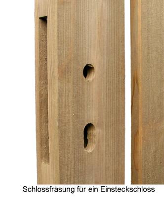 Unbehandelte Zaunfelder Gartentor Larche Rundbogen Holz Im Garten