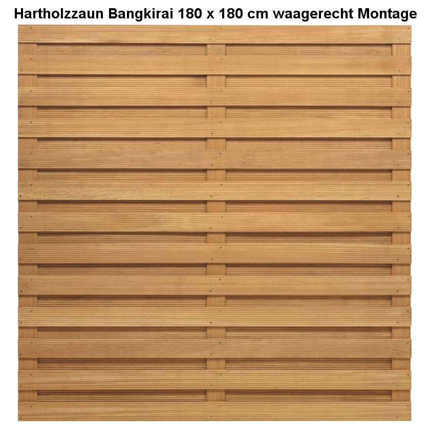 sichtschutz hartholzzaun bangkirai holz im garten. Black Bedroom Furniture Sets. Home Design Ideas