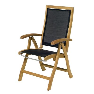 Möbel Gartenstuhl Aus Teak Holz Und Twitchell Textilene Holz Im