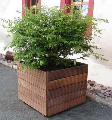 Pflanzkästen - Pflanzkübel xxl aus Massaranduba - Holz im Garten