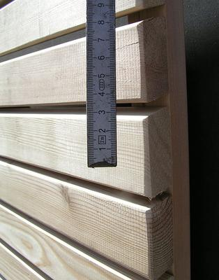 l rche sichtschutz rhombus l rche 68 mm leiste holz im garten. Black Bedroom Furniture Sets. Home Design Ideas