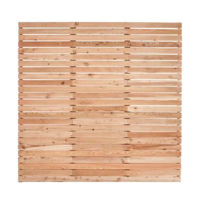 Super Sichtschutzzaun sib. Lärche - Holz im Garten NZ67