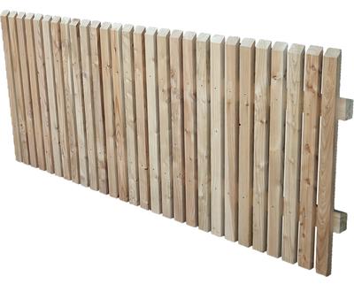 Holzzaune Holzzaun Europaische Larche Unbehandelt Holz Im Garten