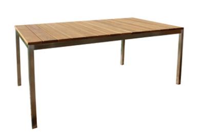 Mobel Gartentisch Aus Robinie Mit Edelstahlgestell Holz Im Garten