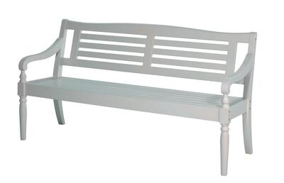 Gartenbank weiß 3 sitzer  Möbel - Gartenbank weiß, 3-Sitzer - Holz im Garten