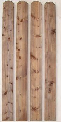 Zaunlatten Und Riegel Zaunlatte Rundbogen Fur Holzzaun Holz Im