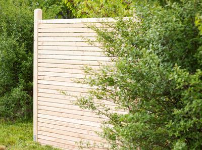 Sichtschutz Moderner Sichtschutzzaun Aus Sibirischer Larche Holz