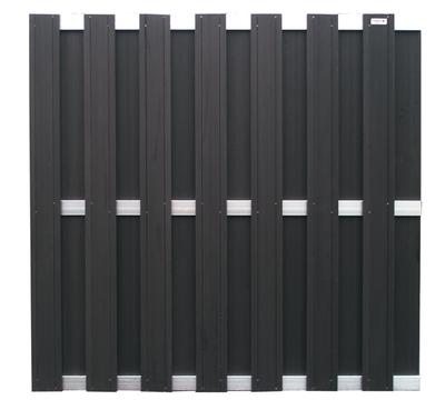 wpc sichtschutz wpc sichtschutzzaun element in anthrazit holz im garten. Black Bedroom Furniture Sets. Home Design Ideas