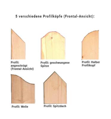 Zaunlatten Und Riegel Zaunlatten Mit Profilkopf Unbehandelt 21 X